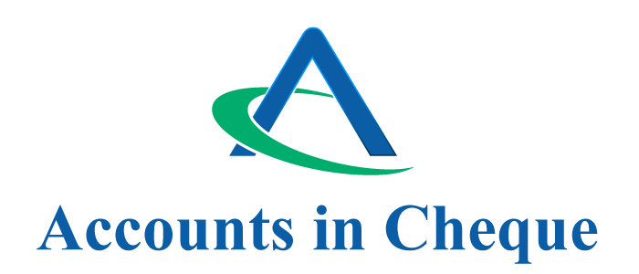 Accounts in Cheque